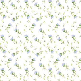 スカイブルーの花柄画像