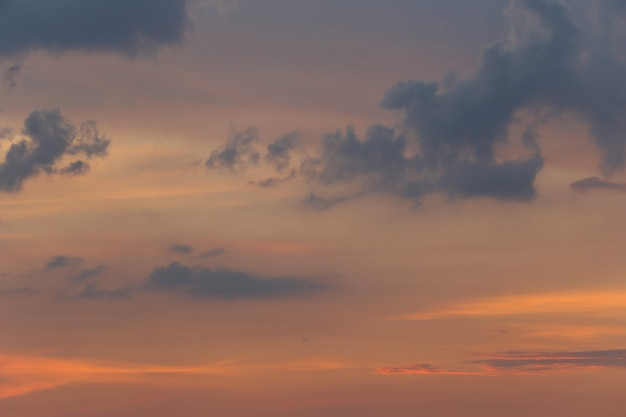 Sky and clouds after sunset, twilight sky view for natural landscape
