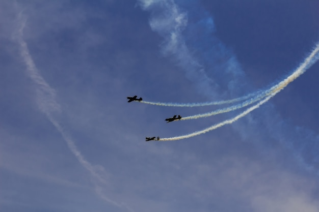 Sky clouds aircraft air show