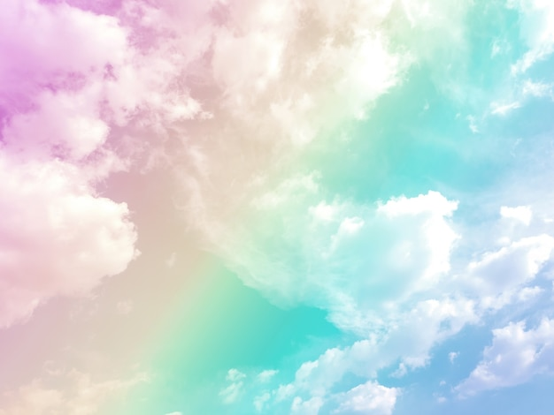 Sky and clouds on a beautiful pastel background