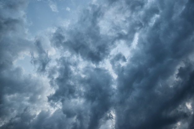Sky clouds before thunderstorm