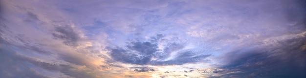 Sky and clouds in the evening