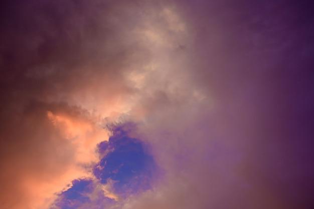 The sky during the rainy season.