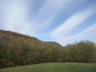 Sky over effigy mounds