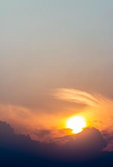 Sky in evening, sunset.