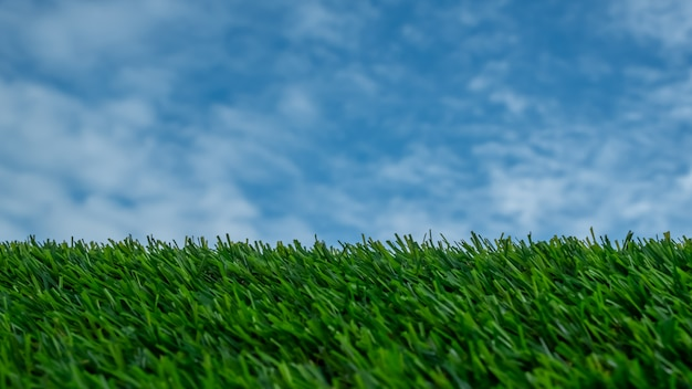 Sky and  grass for background