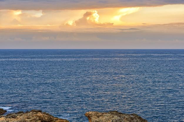 Sky landscape over the sea