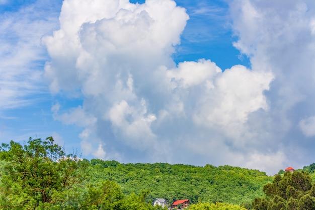 Sky landscape with cumulus clouds