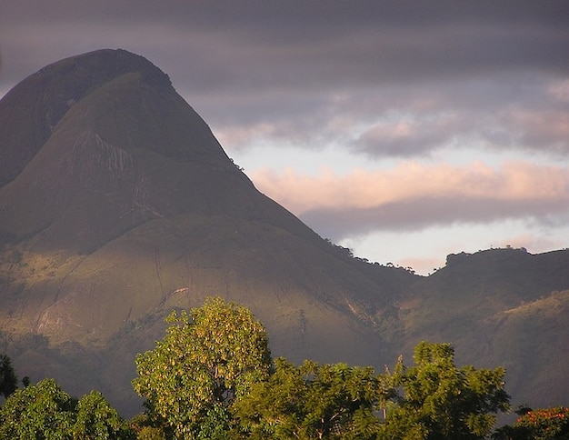 Sky mountains clouds gurue valley landscape