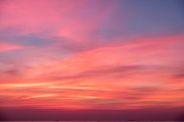 Sky in pink, blue and purple colors