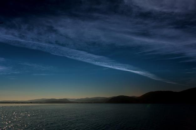 하늘 표면은 바다에 반영.