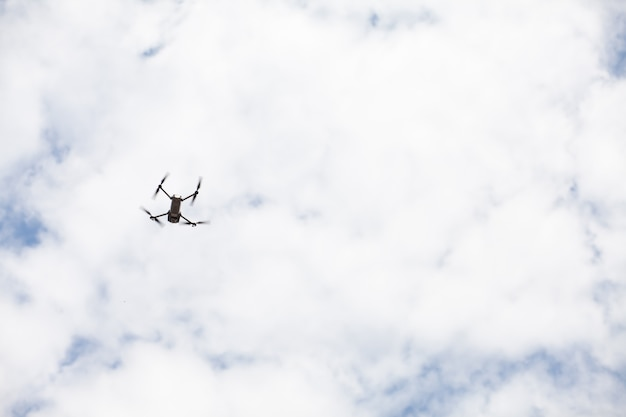 In the sky there is an unmanned aerial vehicle dron
