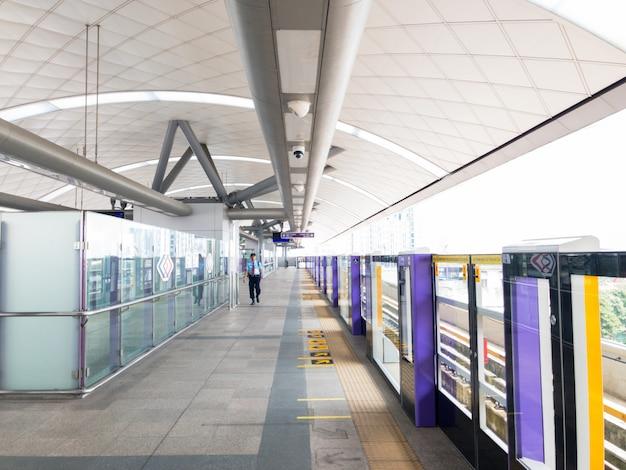 Sky train station.