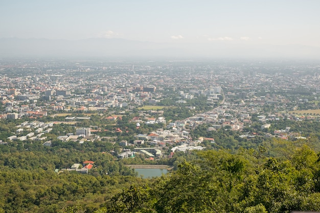 Sky view of chiang mai city