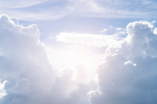 Sky white clouds background.