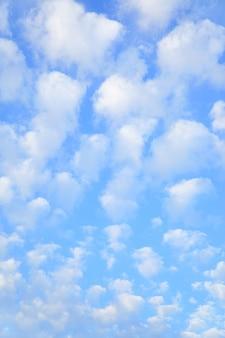 작은 구름이 많은 하늘, 세로 배경으로 사용할 수 있음