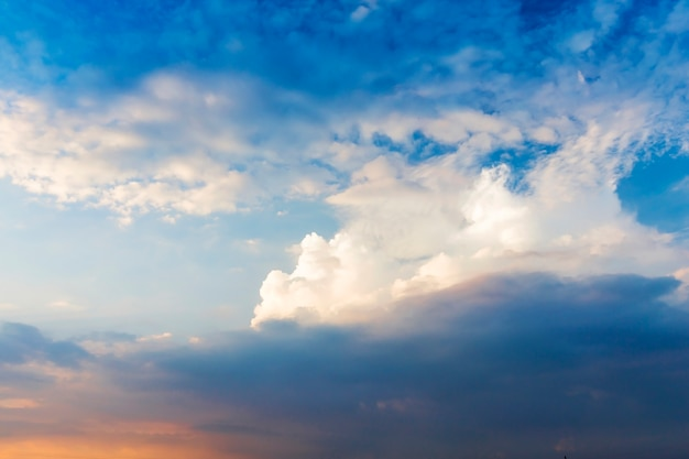Sky with blue and white clouds
