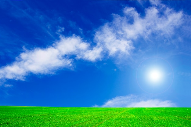 Sky with a cloud