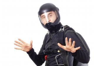 Skydiver   helmet
