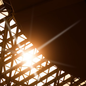 Skylight window -  abstract architectural background with space for text