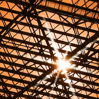 Skylight window and sunlight -  architectural background