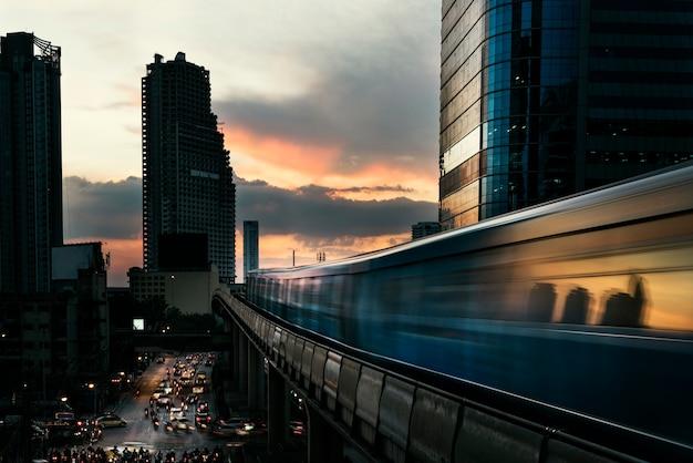 Skyline cityscape building sunrise twilight