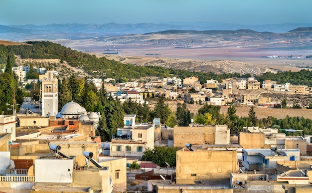 Skyline of el kef, a city in northwestern tunisia. northern africa