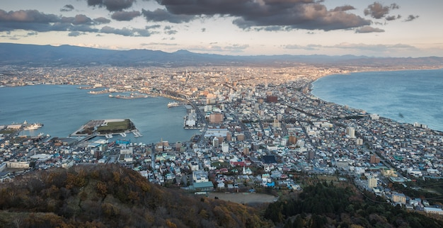 Skyline of hakodate city