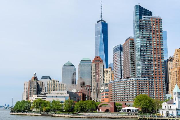 뉴욕시에서 맨해튼의 스카이 라인