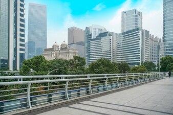 Skyline of modern urban architecture landscape