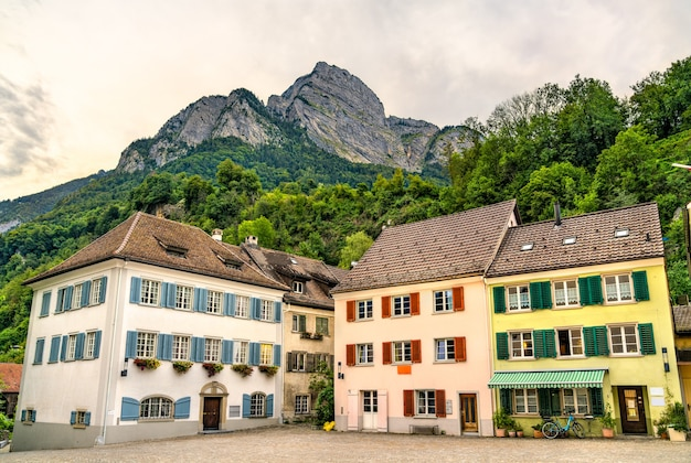 Горизонт зарганса, город в кантоне санкт-галлен в швейцарии