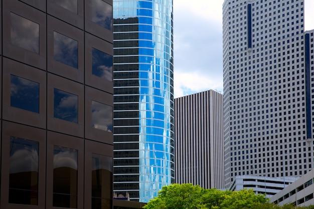 Хьюстон техас skyline с современными skyscapers
