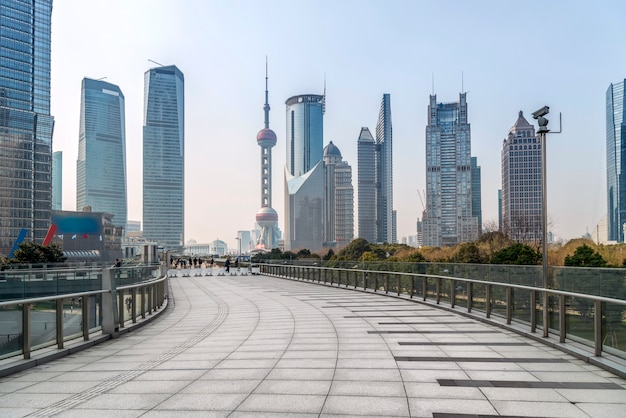 Skyline of the urban architectural in lujiazui