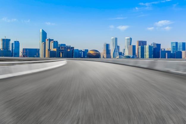 The skyline of the urban skyline of hangzhou expressway
