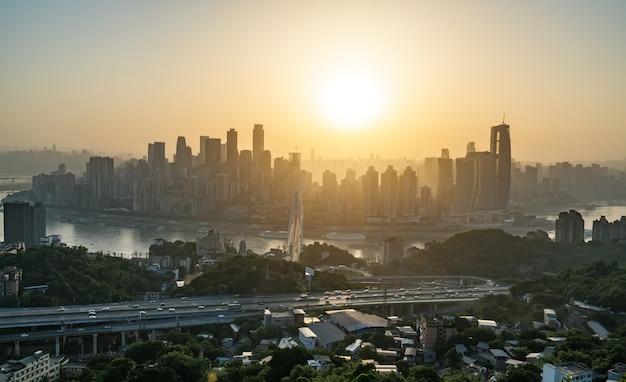 Современный мегаполис skyline, чунцин, китай,
