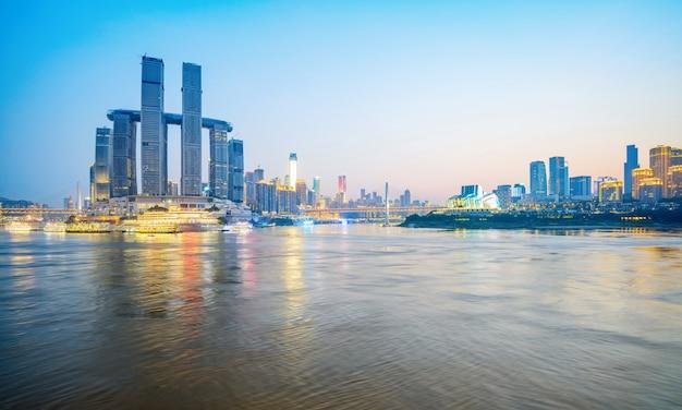 Современный мегаполис skyline, чунцин, китай