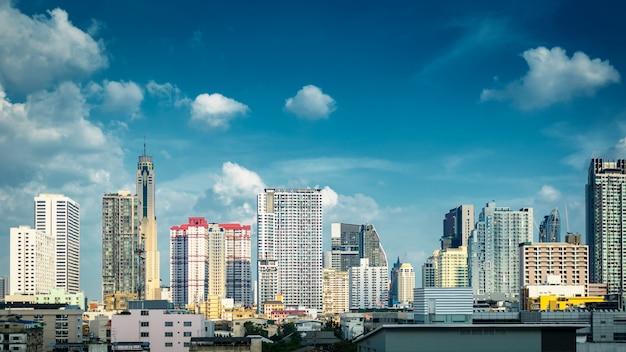 Панорама бангкок городской пейзаж skyline