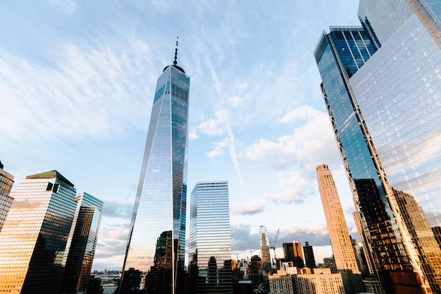 고층 빌딩 및 뉴욕시에서 건물