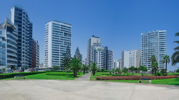 Skyscrapers in a district pf lima peru