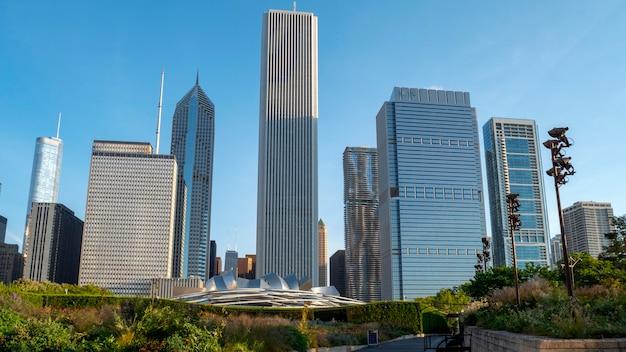 시카고 시내의 고층 빌딩