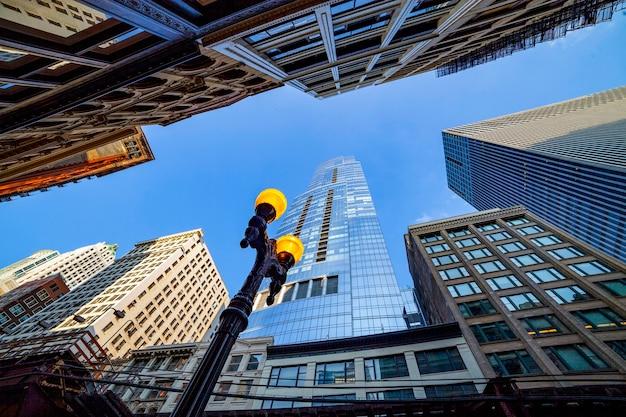 シカゴのダウンタウンの高層ビル