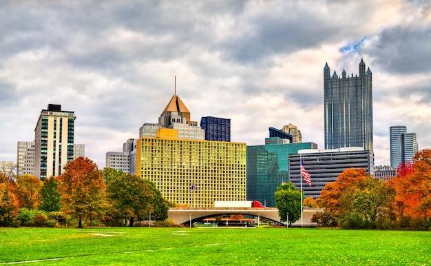 피츠버그 시내의 고층 빌딩. 펜실베니아, 미국
