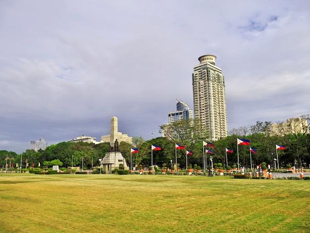 Skyscrapers in manila city, philippines