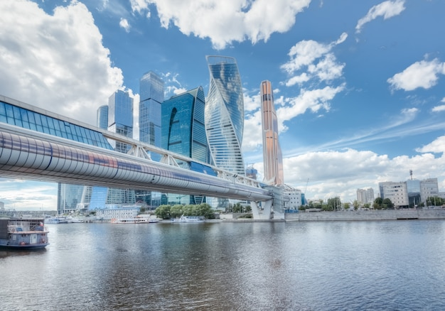 Skyscrapers of moscow in the cityscape