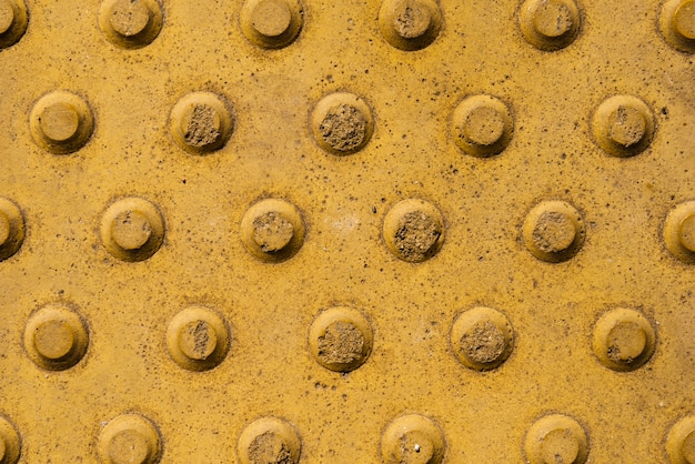 Slate background with yellow circles design
