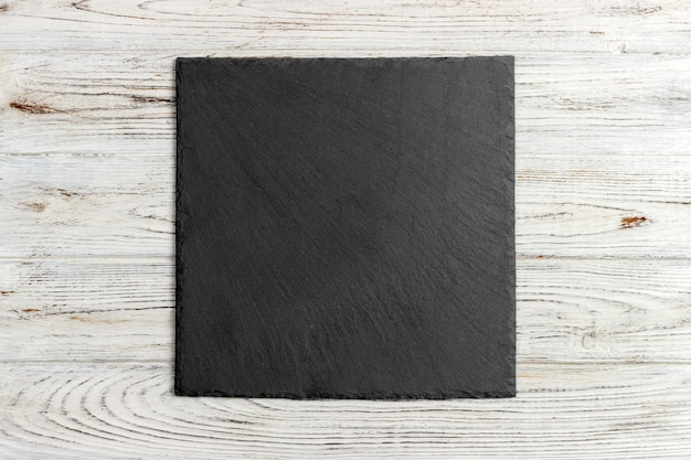 Slate board on wooden