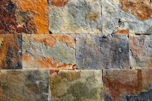 Slate stone colorful texture tiles