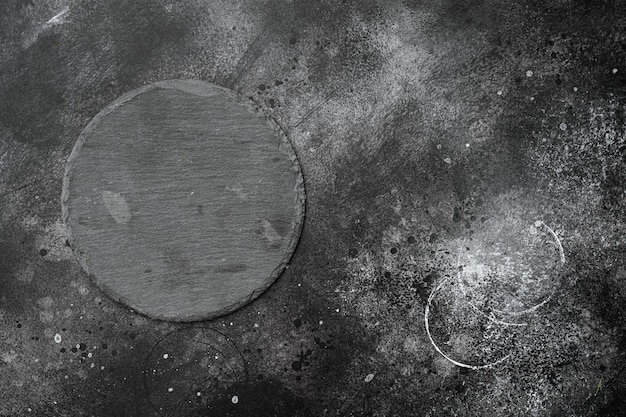 텍스트나 음식을 위한 복사 공간이 있는 슬레이트 석재 커팅 보드 세트