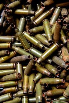 Sleeves from the machine gun and large-caliber machine gun.