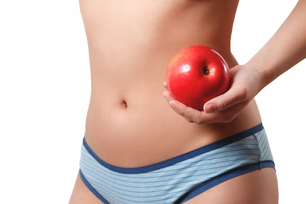 スレンダー スリム 体型 腰 腹 若い女性 女の子